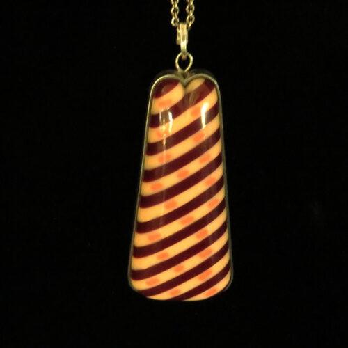Laminated Bakelite Sterling Pendant