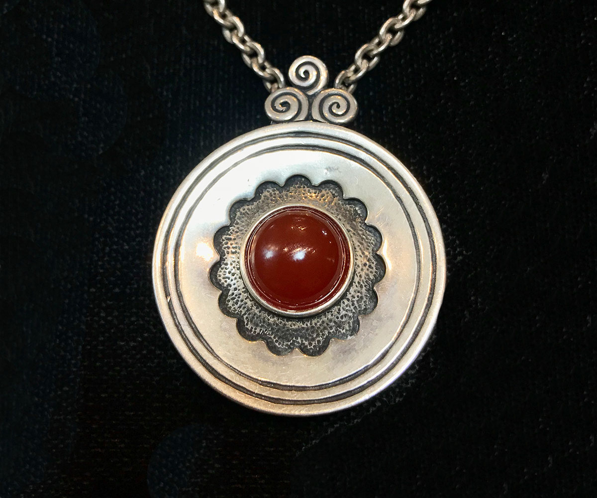 Sterling and Carnelian pendant by Noy Li