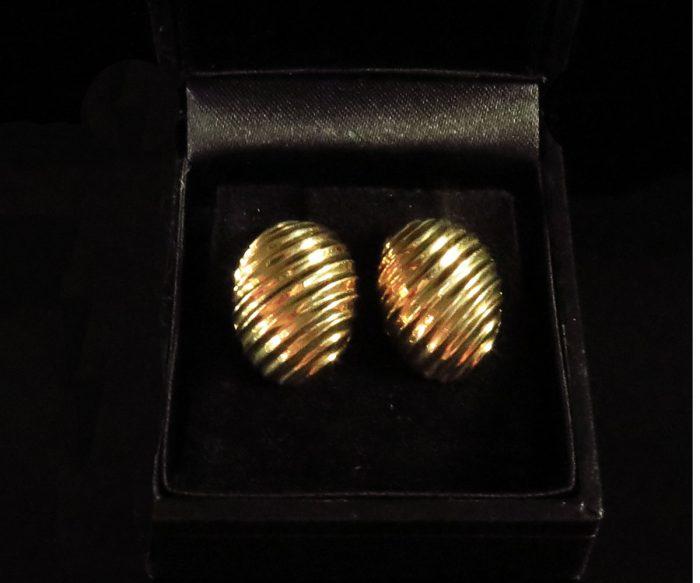 Gold Shrimp Earrings