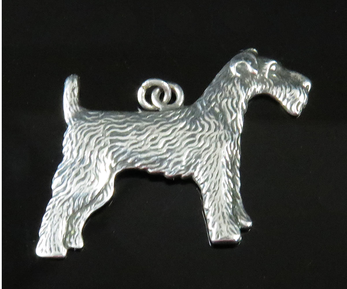 Sterling Fox Terrier Charm