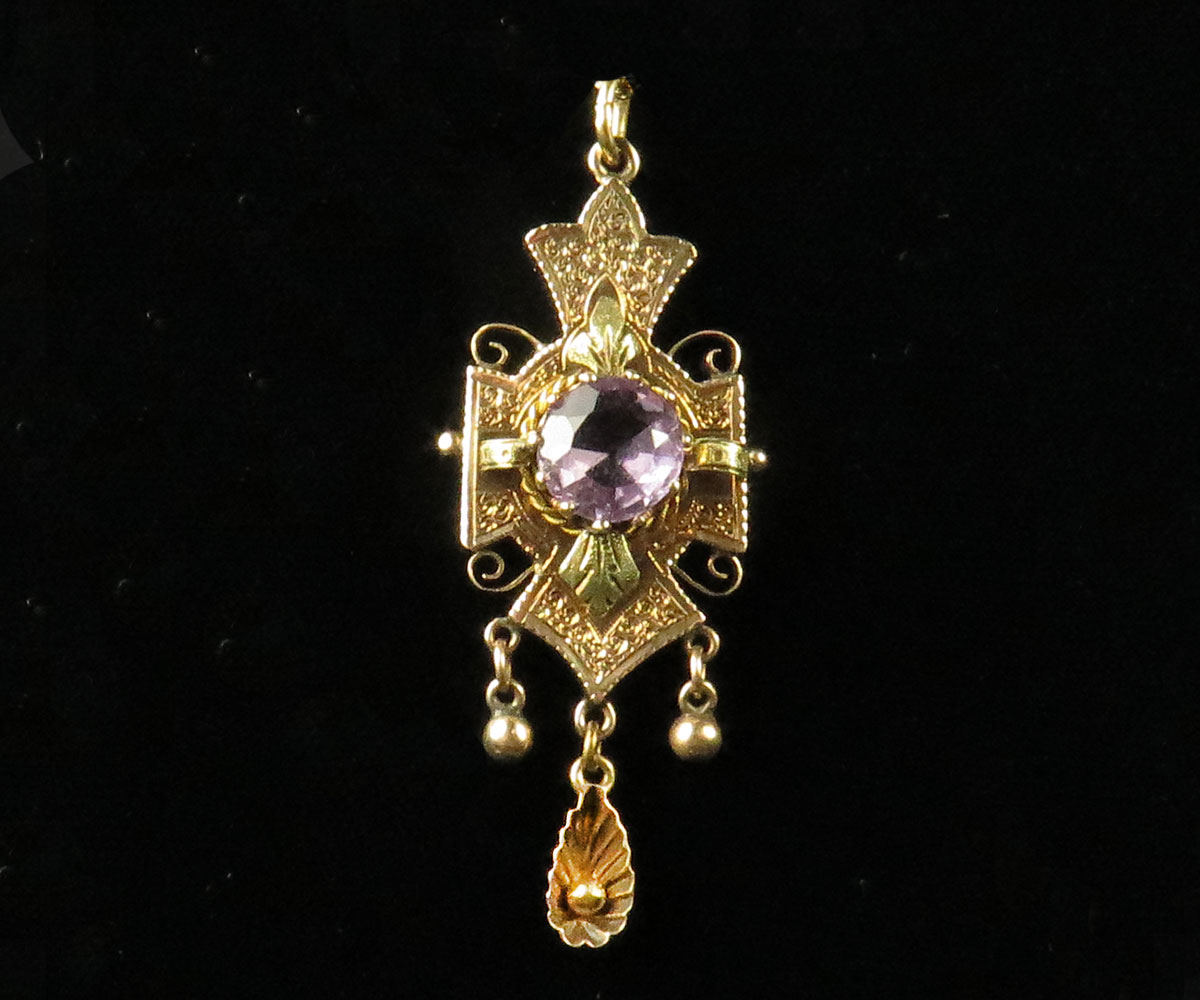 Victorian Gold and Amethyst Pendant