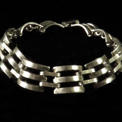 Sterling Gate Link Bracelet