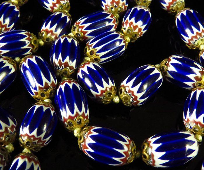 Vintage Venetian 6 Layer Chevron Bead Necklace