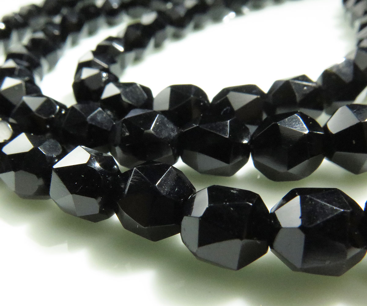 French Jet Bead Necklace