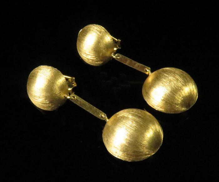 18K Gold Dangly Earrings from Spain