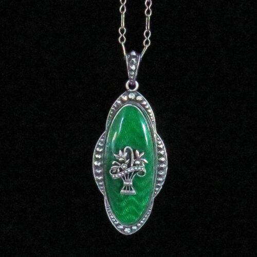 Silver and Enamel Giardinetto Austrian Pendant