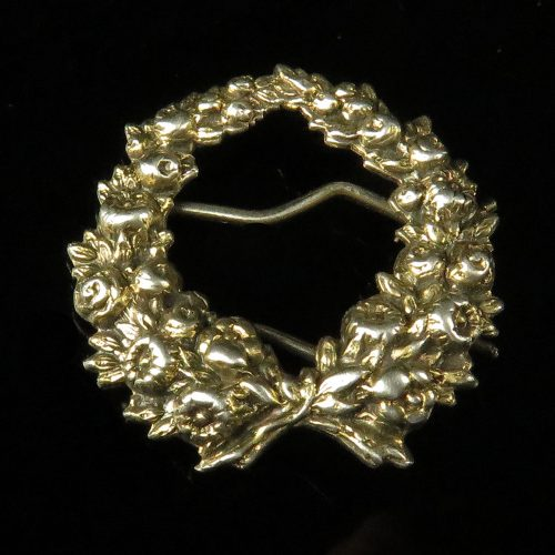 Sterling Flower and Bow Barrette by Kerr
