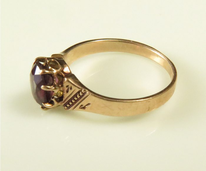 Child's Gold and Garnet Ring