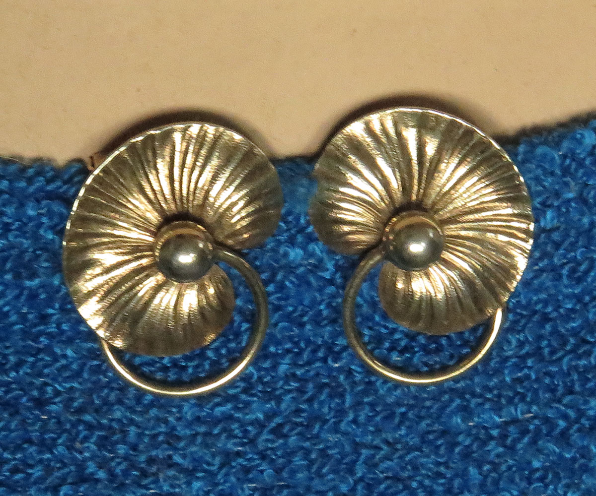 Pair of Sterling Lily Pad Dress Clips by Forstner