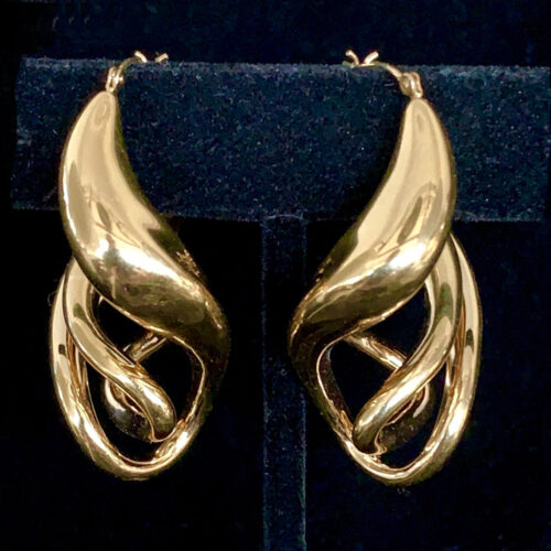 Free Form Gold Anticlastic Earrings