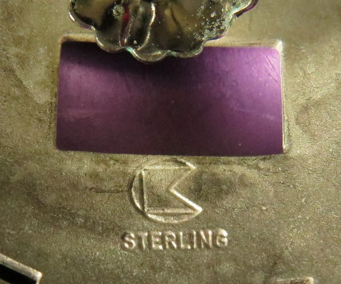 Sterling and Anodized Aluminum Earrings by Cathleen Bunt