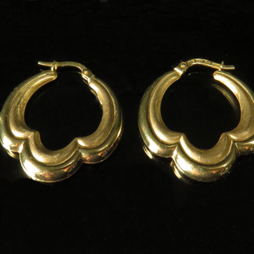 Gold Italian Earrings by Milor
