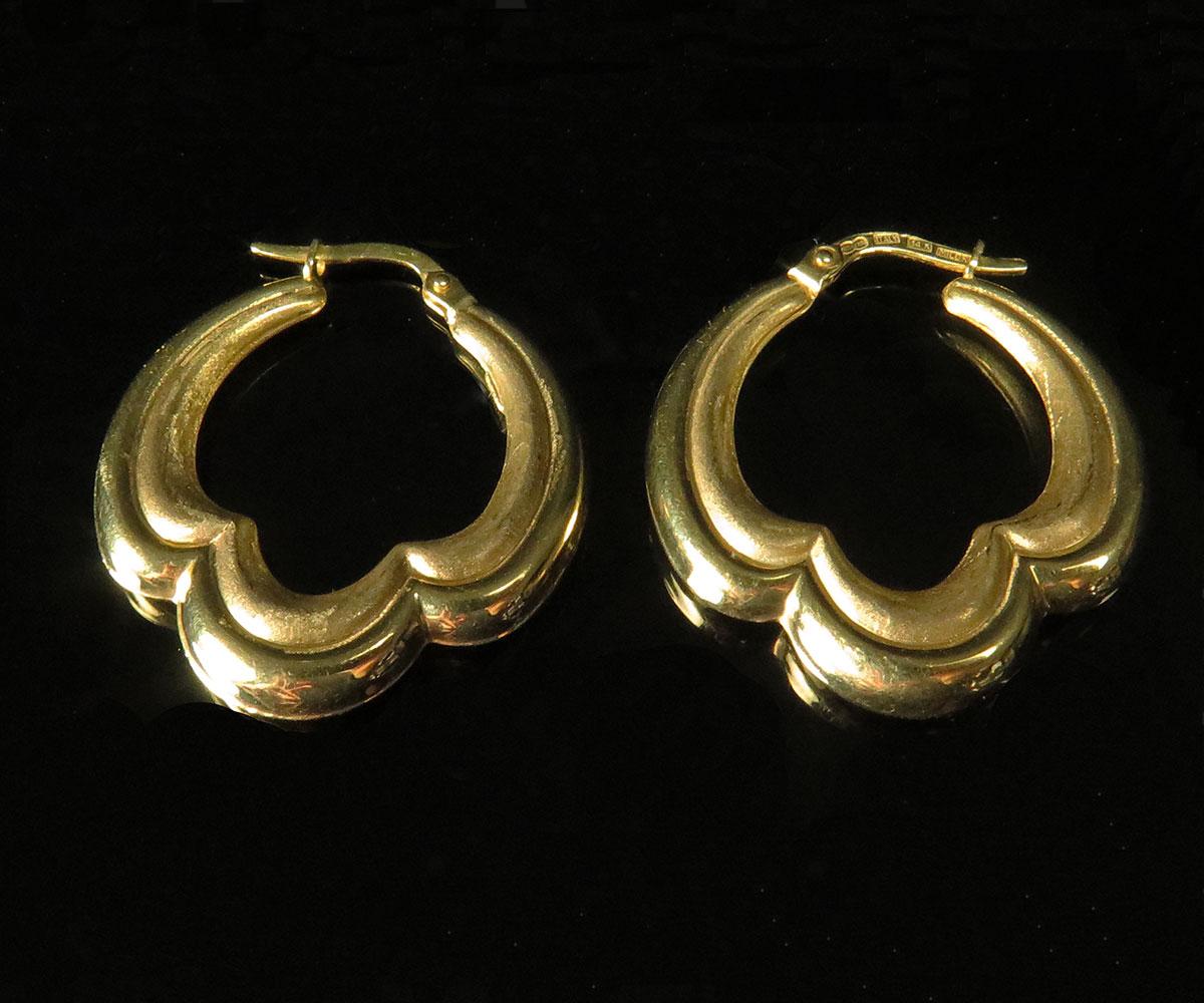 Gold Italian Earrings by Milor
