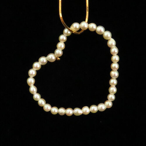 Floating Heart with Pearls