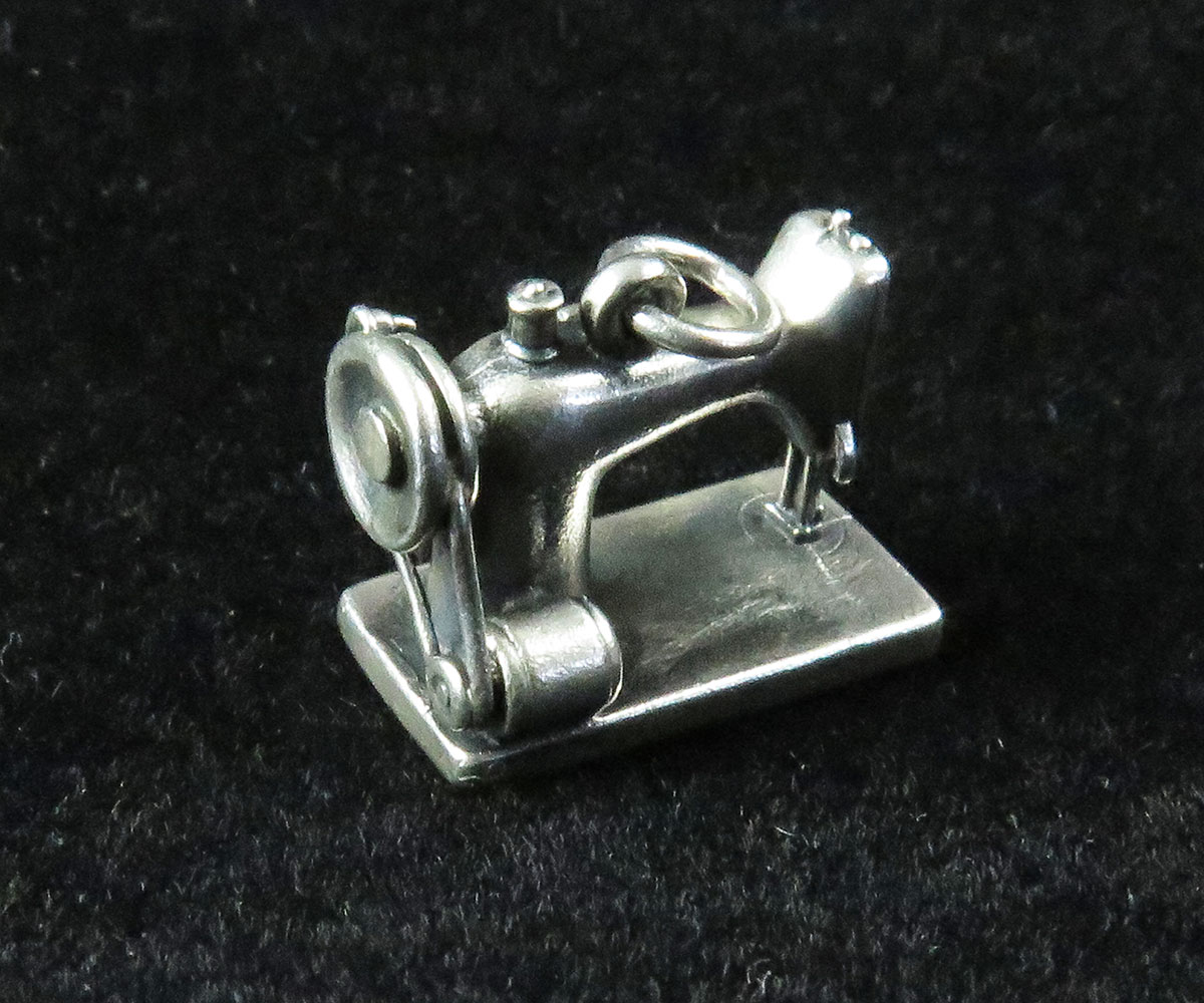 Sterling Sewing Machine Charm by Jason Avery