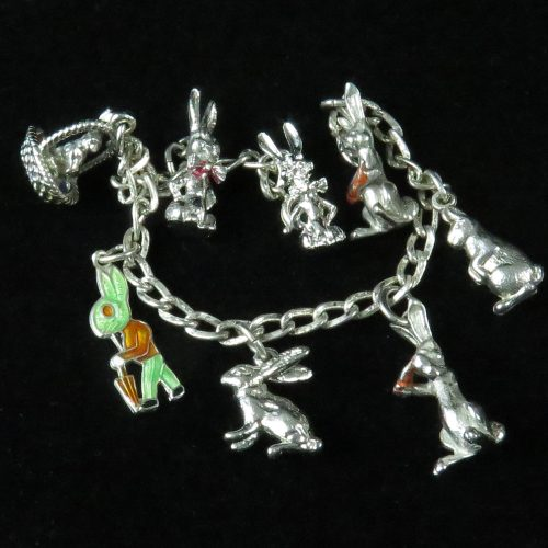 Sterling Rabbit Charm Bracelet
